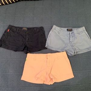 Excellent! 3 pairs of Polo by Ralph Lauren shorts
